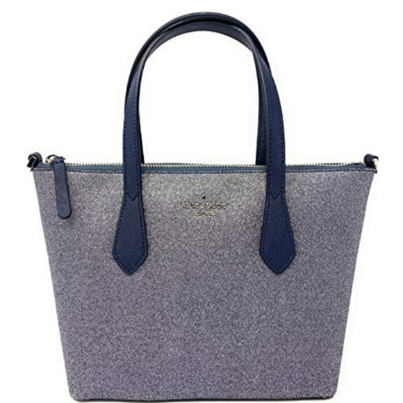 kate spade Handbags - Kate Spade Glitter Joeley Large Silver Tote Bag